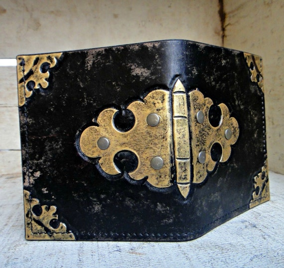 Streamlined Tooled Leather Wallet
