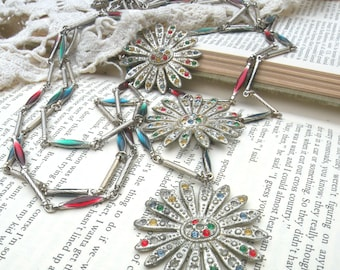 aster necklace tangles fall assemblage layer multi chain upcycle jewelry