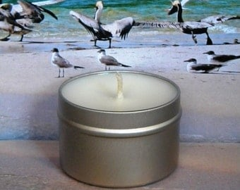 BEACH BE CRAZY Soy Candle Tin - Handmade Soy Candles Beach Scented - Funny Gifts