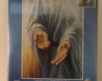 His Hands Jesus the Savior Counted Cross Stitch Kit