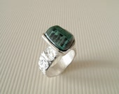 Tourmaline Ring Sterling Silver Ring With Natural Tourmaline No 1 // Made In Your Size