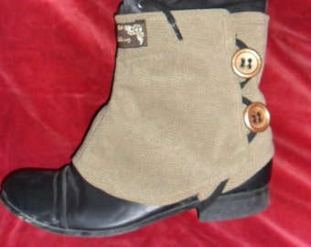 Steampunk Buttoned Spats