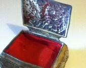 Vintage Pewter Jewelry Box-