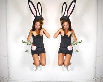 The Bunny Hop - Grey Rabbit Dress