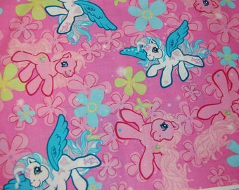 Kawaii Vintage Style Pink My Little Pony Fabric 1/2 yard Half Yard OOP Out of Print Hard To Find RARE yardage Starcatcher Pegasus