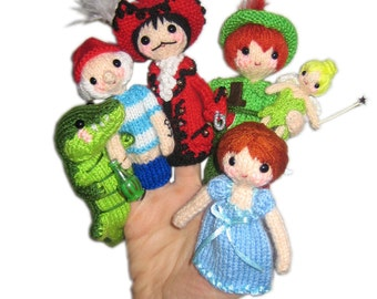 PETER PAN Finger Puppets Pdf Email Knit PATTERN