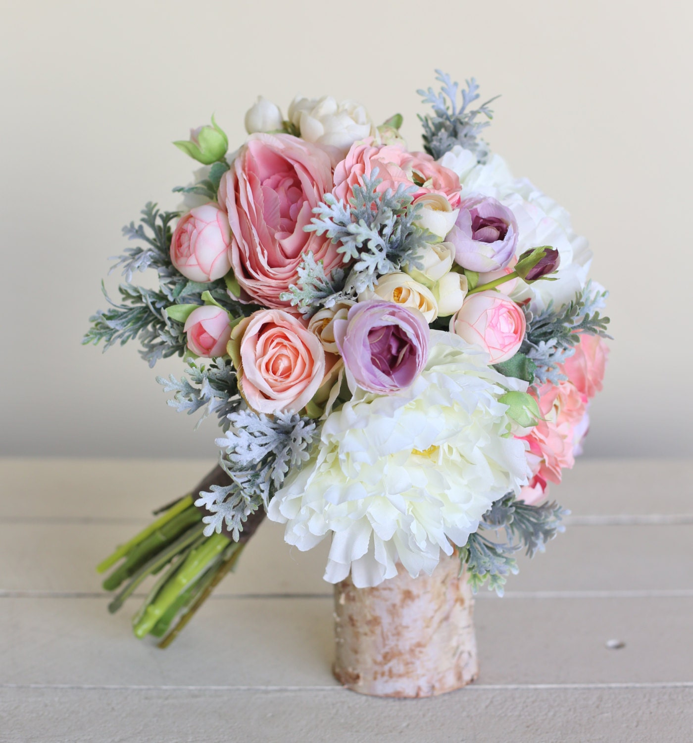 Bridal Bouquets Silk Flowers: Rustic Silk Bridal Bouquet By Braggingbags On Etsy