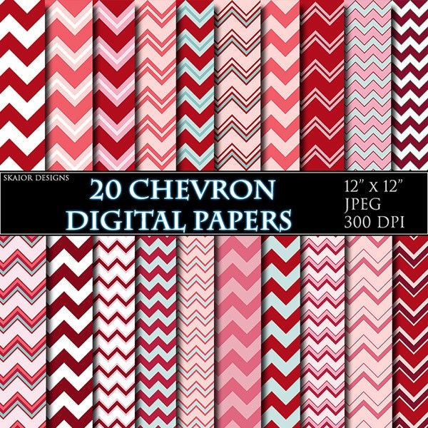 image relating to Chevron Printable Paper titled Crimson Chevron Electronic Paper Sbooking Paper Printable Paper