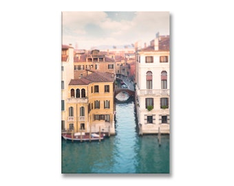 Venice Photograph on Canvas, Byron's View, Grand Canal, Venice, Italy Gallery Wrapped Canvas, French Home Decor, Large Wall Art