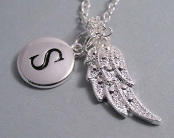 Delicate Angel Wing  Angel Wing Charm Angel Wing  Silver Plated Charm  Silver  Supplies