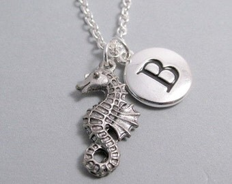Seahorse Silver Plated Charm jewelry Supplies