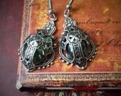 Silver Cross Earrings, Celtic Cross Earrings, Celtic Earrings, Celtic Jewelry, Celtic Jewellery, Celtic Wedding, Medieval Wedding,