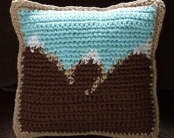 Mountain Scenery Mini Pillow - PDF Crochet Pattern - Instant Download
