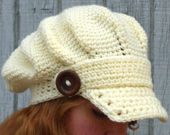 Arctic Edge Brimmed Beret - PDF Crochet Pattern - Instant Download