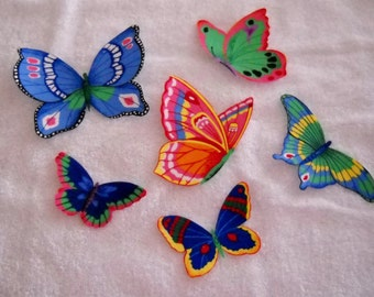 Colorful BUTTERFLY  fabric appliques #34
