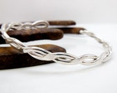 Sterling Silver Cuff Bracelet, Twisted Wire, Custom Made Jewelry for Women