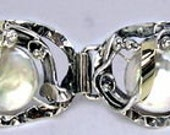 Stunning Artisan Sterling Silver fresh water Pearl Bracelet (s b1699s