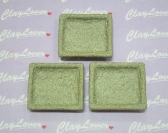 Ceramic Plates - 4cm x 3.4cm x 0.9cm
