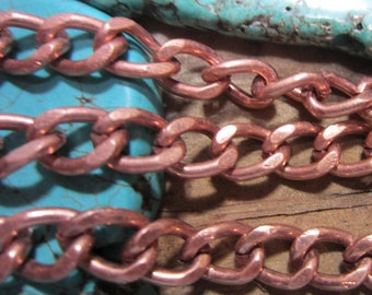 6 ft Copper chain bold chunky diy jewelry supply strong nickel free iron 7.6mm x 5.5mm Y1701