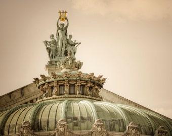 Paris Opera House Photo, Palais Garnier Paris Photography Dreamy France Print Architecture Neutral Colors par75