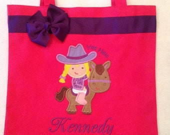 Personalized Tote Bag, Personalized Tote, Cowgirl Tote Bag, Cowgirl Tote, Horse Gift, Personalized Horse, Personalized Cowgirl,