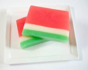 Watermelon Soap - Handmade Soap,  Soap for Kids, Glycerin Soap, Summer Soap, Teachers Gift, Fruit Soap, Vegan Soap