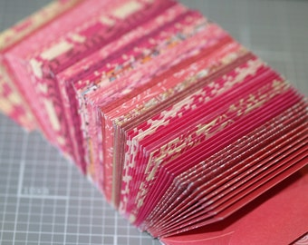 Perfectly Pink ... 20 Mini Envelopes Business Card Size Tiny Small Assortment Gift Enclosures Thank You Notes Wedding Guest Book Alternative