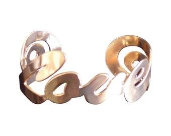 Rose Gold cuff, Rose gold jewelry Rose gold bracelet love cuff bracelet, jewelry, love jewelry, love bracelet, love cuff