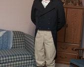 Mens  Black Regency/Dickens /Steam Punk Costume Tail Coat make to order Mens sizes XS-3X