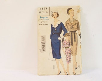 Vintage 1960s One piece Dress Sewing Pattern 4118 size 14