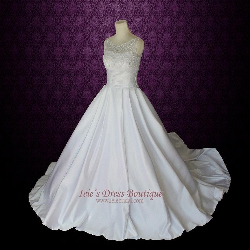 Modest wedding dress sleeveless princess ball gown wedding for Modest ball gown wedding dresses