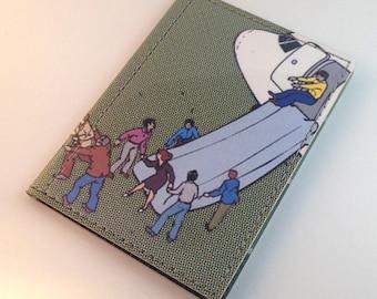 Humorous Handmade Vinyl Passport Case - Slip and Slide