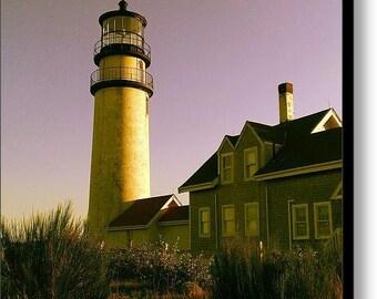 Lighthouse at Sunset - 20 x 20 Fine Art Canvas Print, Highland Light, Cape Cod, Truro