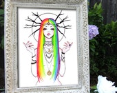 """8x10 Fine Art Print  """"Prisma"""" by Leilani Joy"""