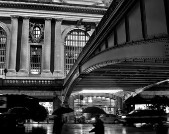 New York City Photography - Terminal Rain - 11x14 Print on Professional Supra Endura Paper, Matted to 16x20 - fits in standard frame