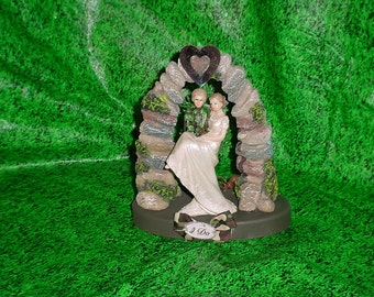 hunting wedding cake toppers canada mossy camo groom deer no by splendorlocity 16214