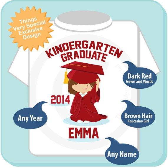Personalized Kindergarten Graduate Shirt Kindergarten Graduation Shirt Child's Back To School Shirt or Onesie   05152012b