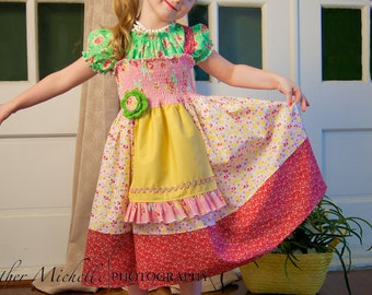 PDF Juvie Moon Designs PDF CHANTIA Apron Dress Design It Yourself  Size 18 months to 12 years