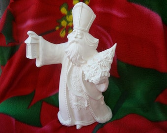 St. Nick santa claus in bisque Ready for you to paint