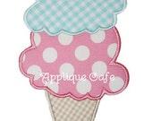 062 Ice Cream Cone Machine Embroidery Applique Design