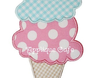 062 Ice Cream Cone Machine Embroidery Applique Design