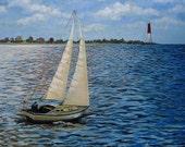 Sail Boat Painting Seascape/Landscape