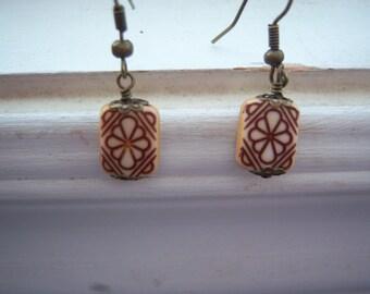 Henna Earrings - Henna Tattoo Earrings -