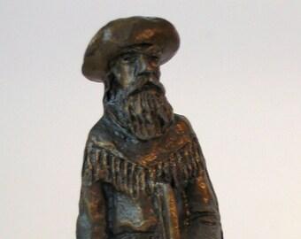"American Heritage ""Frontiersman"" Sculpture Pewter Figurine"