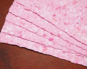 Handmade Recycled Paper - Pink