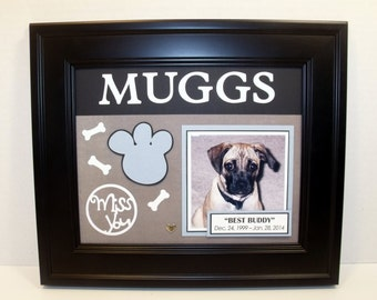 Dog Memorial Picture Frame - Personalized - Deluxe 8x10 Frame Included - ANY COLORS You Choose