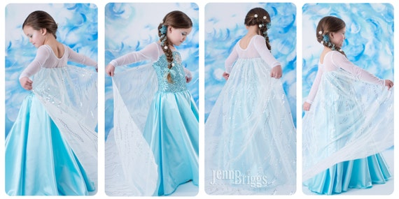 Frozen Elsa costume inspired dress 4t satin style by primafashions