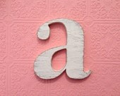 "nursery wall letters wood - Letter ""a"" you choose color - 10"" tall - shown in Seafoam Green"