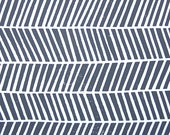 LINOCUT PRINT - geometric pattern - grey chevron zig zag block print 8x10 poster