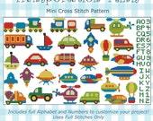 Transportation Minis Collection Cross Stitch PDF chart